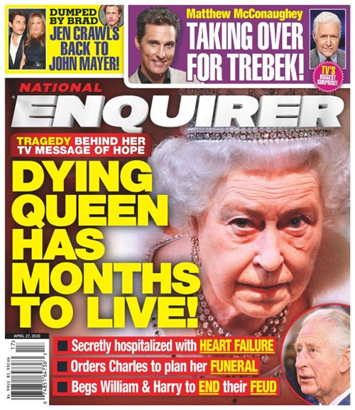 National Enquirer Cover - 4/27/2020