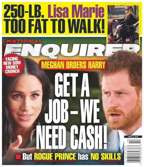 National Enquirer Cover - 4/6/2020