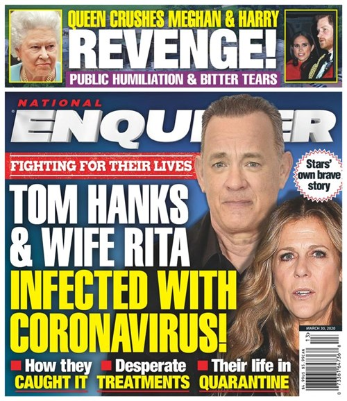 National Enquirer Cover - 3/30/2020