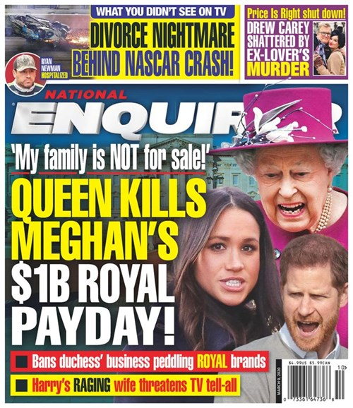 National Enquirer Cover - 3/9/2020