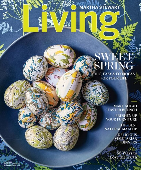 Martha Stewart Living Cover - 4/1/2020