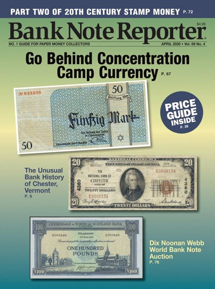 Bank Note Reporter Cover - 4/1/2020