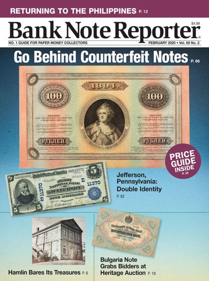 Bank Note Reporter Cover - 2/1/2020