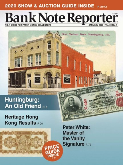 Bank Note Reporter Cover - 1/1/2020