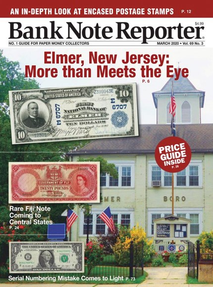 Bank Note Reporter Cover - 3/1/2020