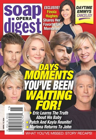 Soap Opera Digest Cover - 4/13/2020