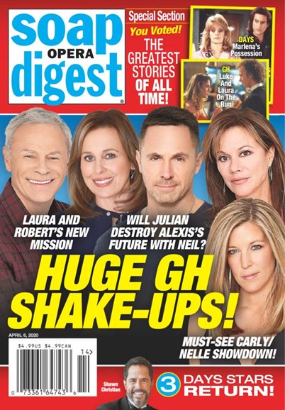 Soap Opera Digest Cover - 4/6/2020