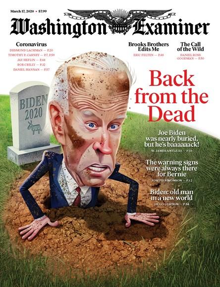 Washington Examiner Cover - 3/17/2020