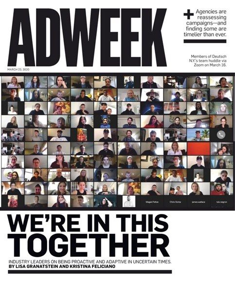 Adweek Cover - 3/23/2020