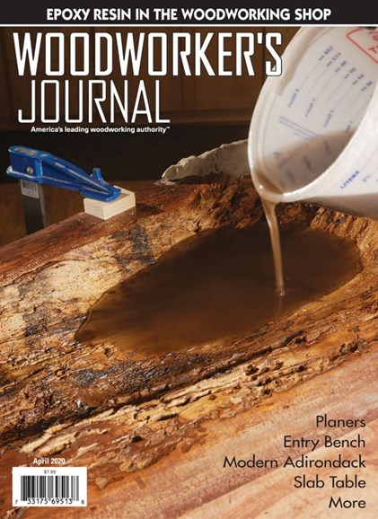 Woodworker's Journal Cover - 4/1/2020