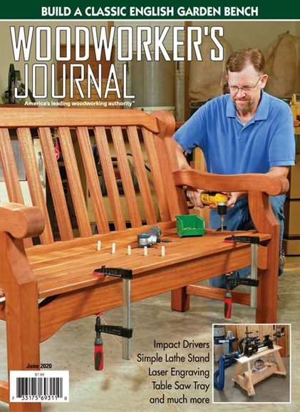 Woodworker's Journal Cover - 6/1/2020