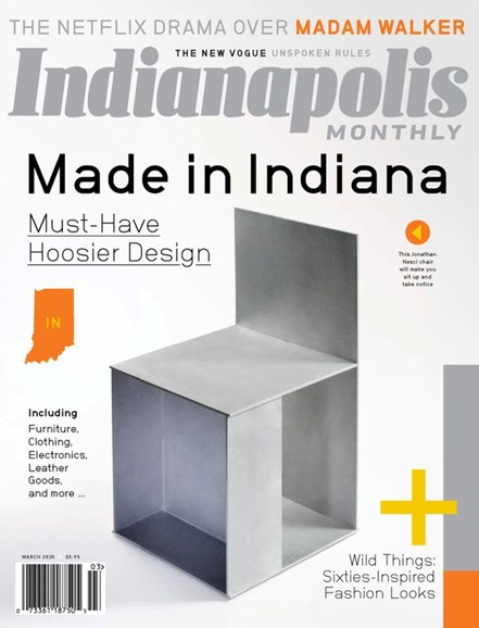 Indianapolis Monthly Cover - 3/1/2020