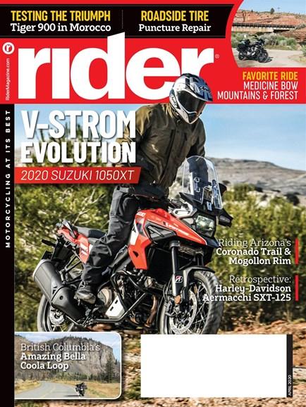 Rider Cover - 4/1/2020