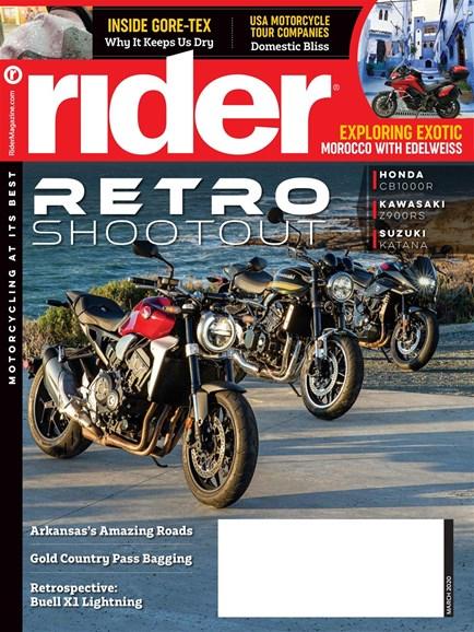 Rider Cover - 3/1/2020