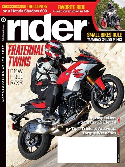 Rider Cover - 5/1/2020