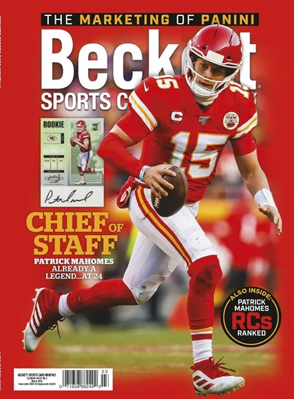 Beckett Sports Card Monthly Cover - 3/1/2020