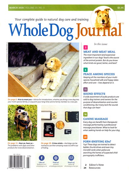 Whole Dog Journal Cover - 3/1/2020