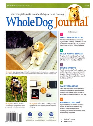 Whole Dog Journal | 3/2020 Cover