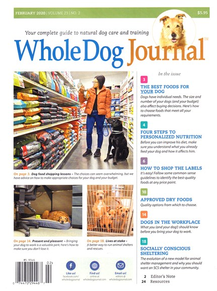Whole Dog Journal Cover - 2/1/2020