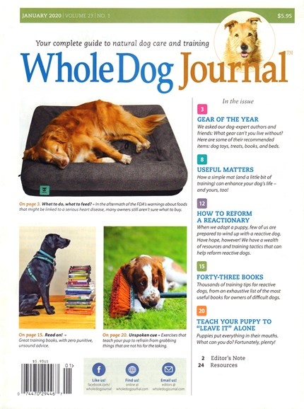 Whole Dog Journal Cover - 1/1/2020