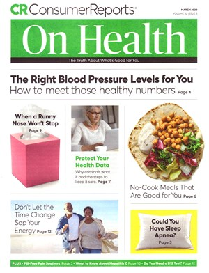 Consumer Reports On Health Magazine | 3/2020 Cover