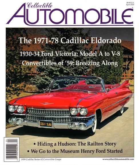 Collectible Automobile Cover - 4/1/2020