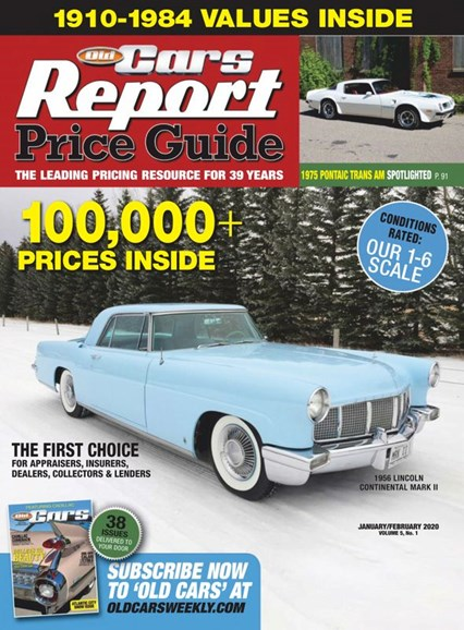 Old Cars Report Price Guide Cover - 1/1/2020
