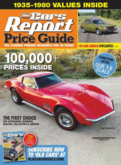 Old Cars Report Price Guide Cover - 11/1/2019