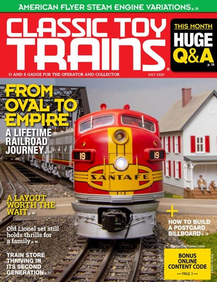 Classic Toy Trains Cover - 7/1/2020