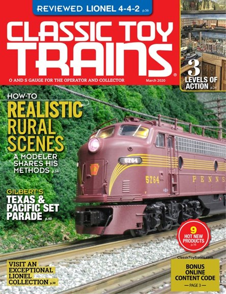 Classic Toy Trains Cover - 3/1/2020