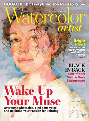 Watercolor Artist Magazine | 8/2020 Cover