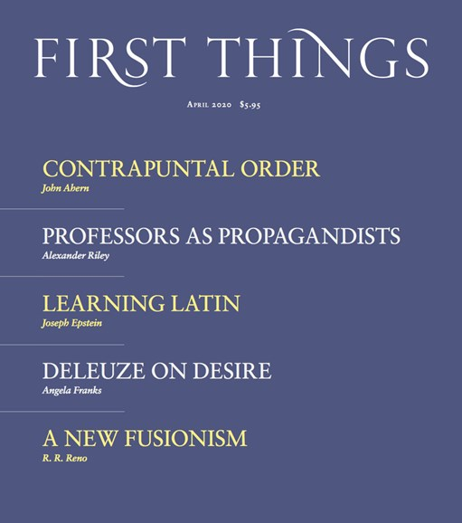 First Things Cover - 4/1/2020
