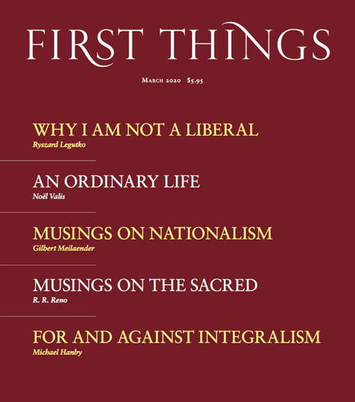 First Things Cover - 3/1/2020