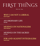 First Things Magazine 3/1/2020