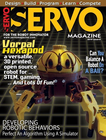 Servo Magazine Cover - 3/1/2019
