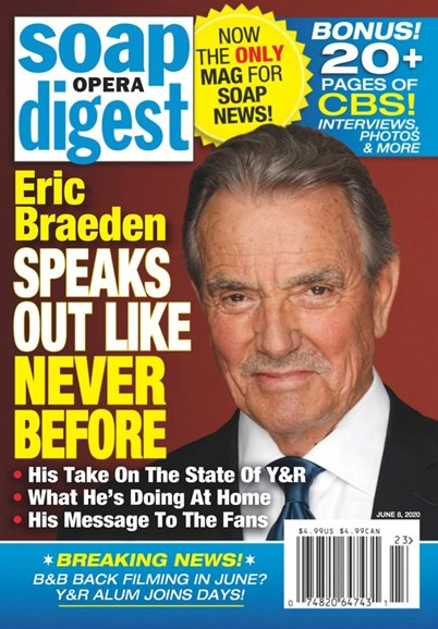 Soap Opera Digest Cover - 6/8/2020
