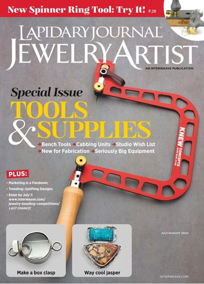 Lapidary Journal Jewelry Artist Cover - 7/1/2020