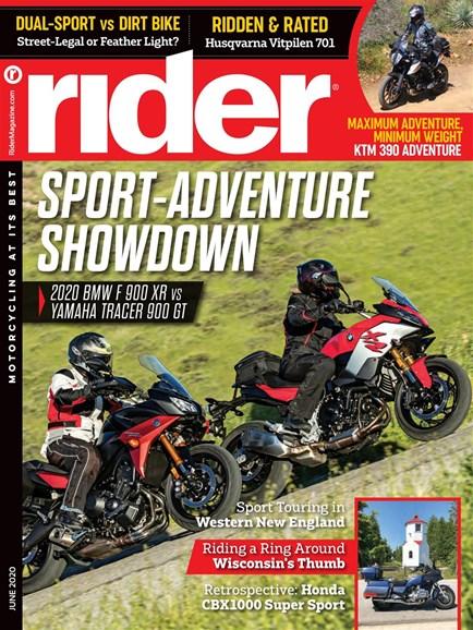 Rider Cover - 6/1/2020
