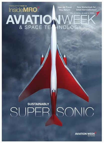 Aviation Week & Space Technology Cover - 4/20/2020