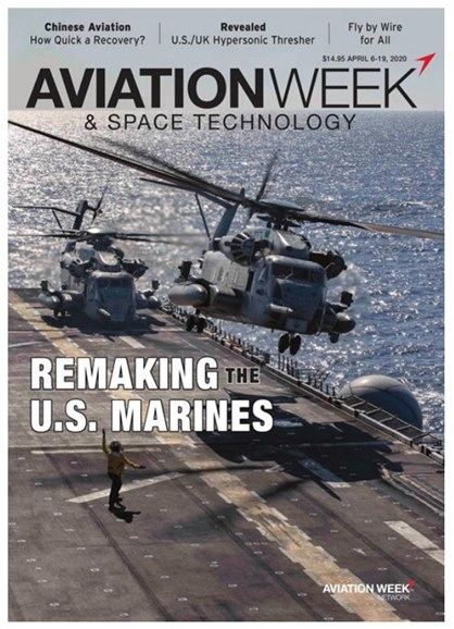Aviation Week & Space Technology Cover - 4/6/2020