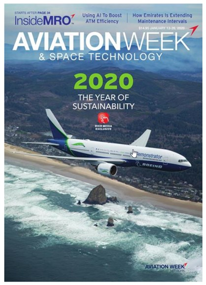 Aviation Week & Space Technology Cover - 1/13/2020