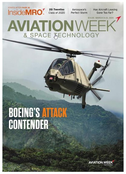 Aviation Week & Space Technology Cover - 3/9/2020