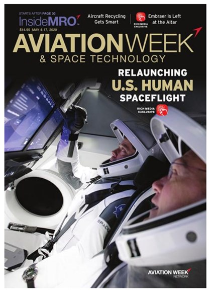 Aviation Week & Space Technology Cover - 5/4/2020