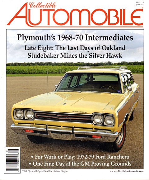 Collectible Automobile Cover - 6/1/2020