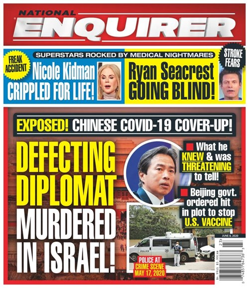 National Enquirer Cover - 6/8/2020