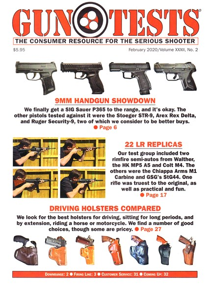 Gun Tests Cover - 2/1/2020
