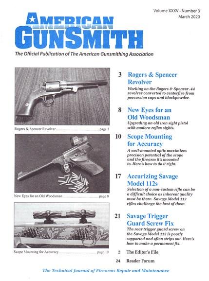 American Gunsmith Cover - 3/1/2020