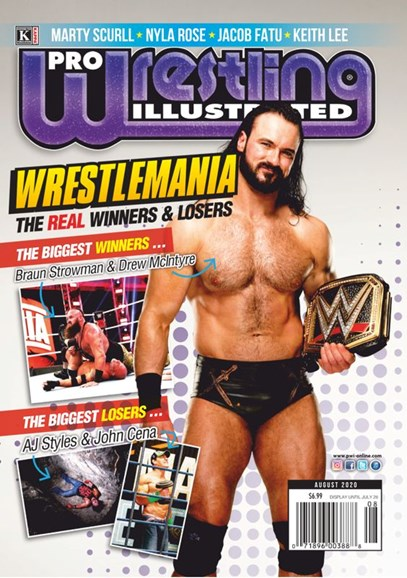 Pro Wrestling Illustrated Cover - 8/1/2020