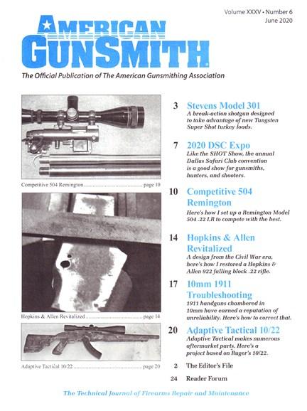 American Gunsmith Cover - 6/1/2020