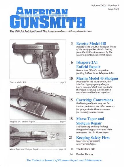 American Gunsmith Cover - 5/1/2020